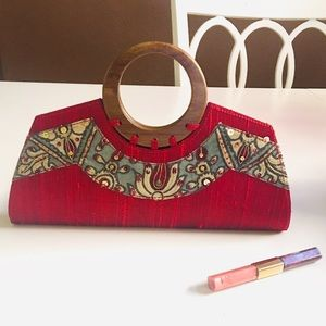 Handbags - Kalamkari Dwaraka Clutch